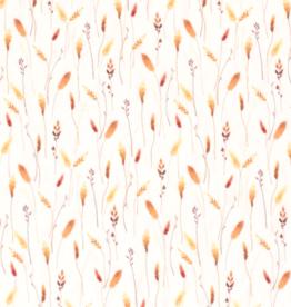 coupon 90x140cm  Digitale tricot korenbloemen