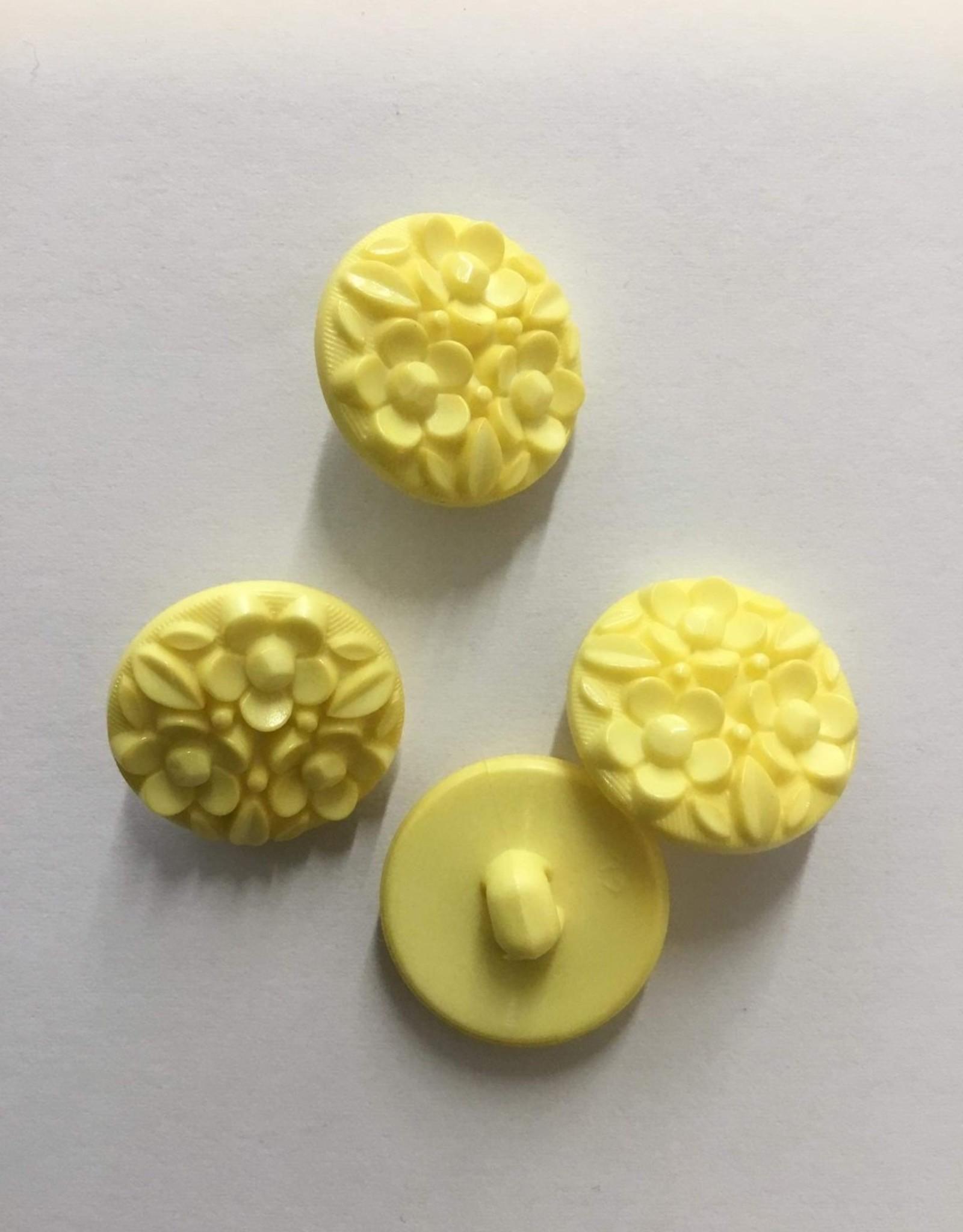 knoop bloemetjes 20mm  geel