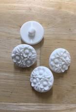knoop bloemetjes 20mm wit