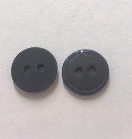 knoop mat met glanzend randje 12mm  zwart