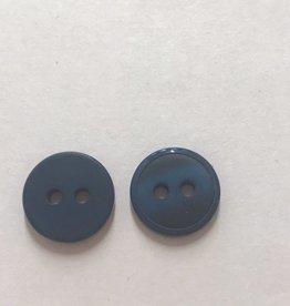 knoop mat met glanzend randje 12mm  blauw