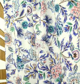 Offwhite bloemen viscose - Atelier Jupe