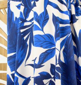 Grote blauwe bladeren viscose - Atelier Jupe