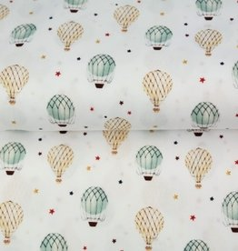 Stenzo Digital tricot wit met luchtballonnen