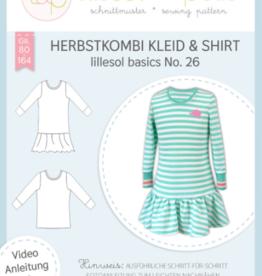 Herfstcombi kleed & T-shirt kids No 26