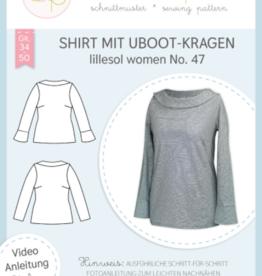 Shirt met Uboothals kraag vrouwen no 47