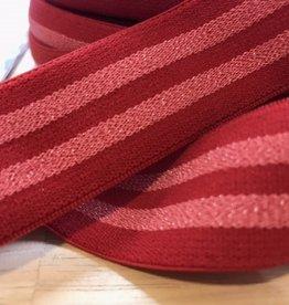 Mals elastiek 30mm gestreept rood