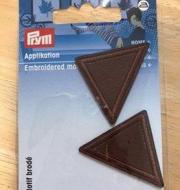 Prym Prym  - applicatie driehoek klein leder bruin - 925 296