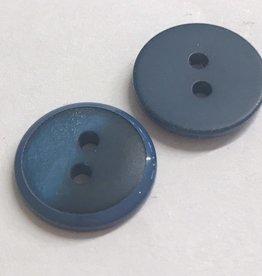 Knoop 15mm combi mat/glanzend 2gaats blauw
