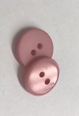 Knoop 15mm combi mat/glanzend 2gaats roze