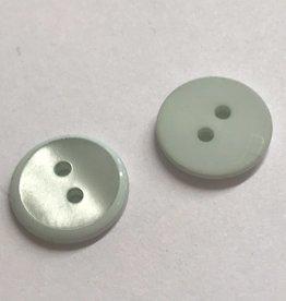 Knoop 15mm combi mat/glanzend 2gaats mint