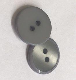 Knoop 15mm combi mat/glanzend 2gaats grijs