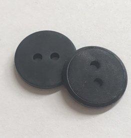 Knoop 15mm combi mat/glanzend 2gaats zwart