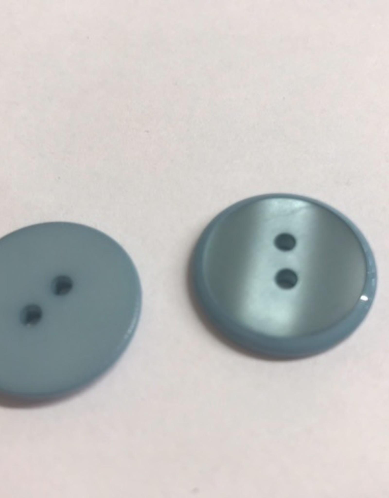 Knoop 20mm combi mat/glanzend 2gaats lichtblauw