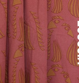 About Blue Fabrics Coupon 60x140Wonders of Life - Parrot Red Viscose