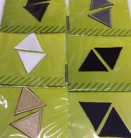 Applicatie driehoekjes per 2 - assortiment