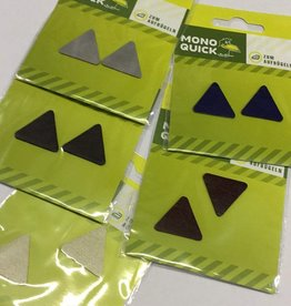Applicatie lederen driehoeken klein per 2 - assortiment