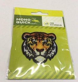 Applicatie geborduurd tijgerhoofd 5.5cm