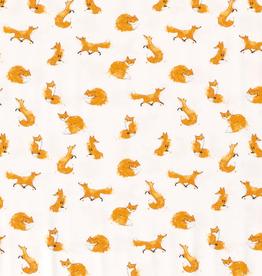 Digital tricot tekening vosje offwhite