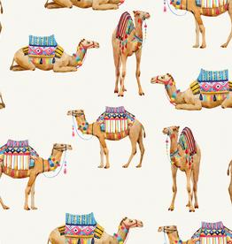 Digital tricot kameel offwhite