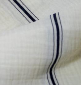 Fibre Mood Double Gauze stripes white with black stripes FM Voila & Belle