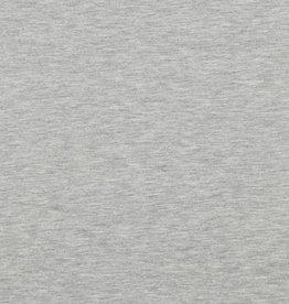 Coupon Uni jersey lichtgrijs melange 50x150cm