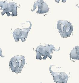 Jersey digitaal bedrukt olifantjes