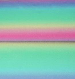 Stenzo Coupon 50x140cm Digital tricot regenboog pastel