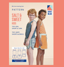 About Blue Fabrics Salt & Sweet Kids top, rok, short en jurk