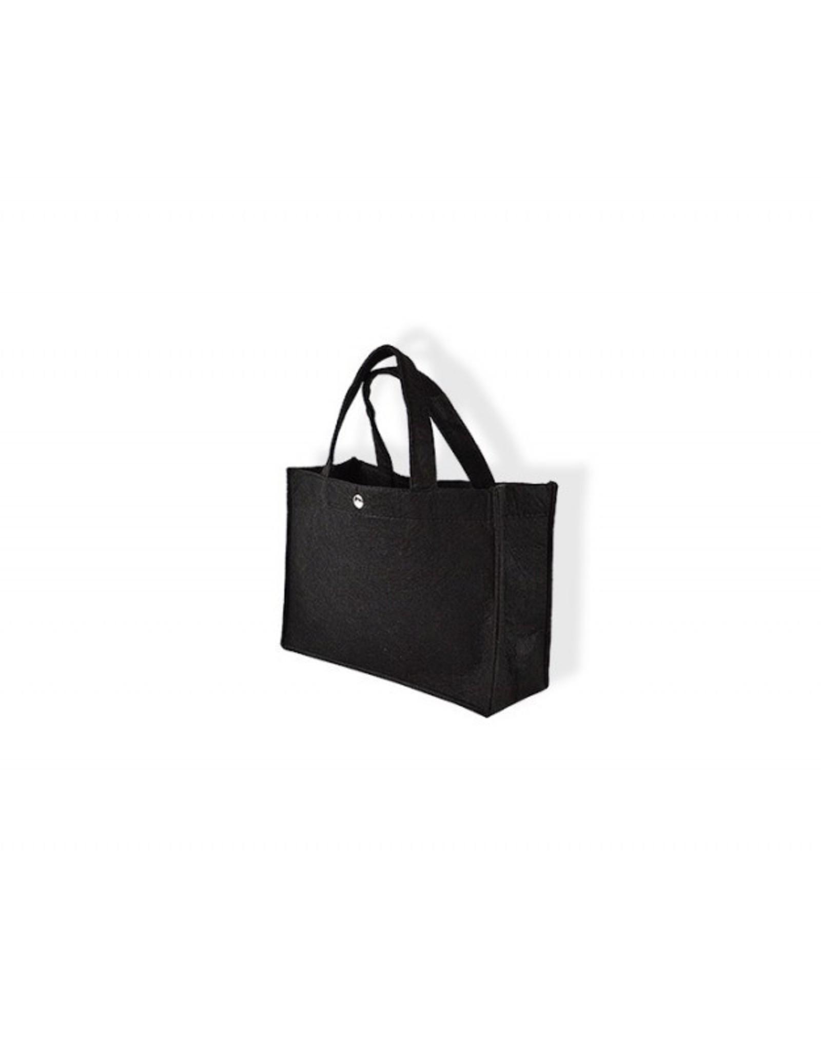 Vilten tas zwart groot 45x31x14cm