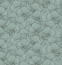 Jersey schelpmotief mint