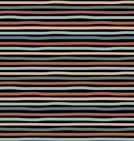 Poppy Jersey GOTS stripes black