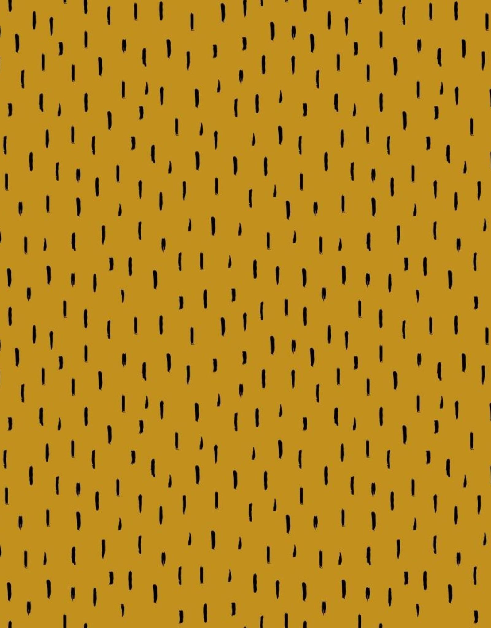 Poppy Jersey GOTS stripes small oker