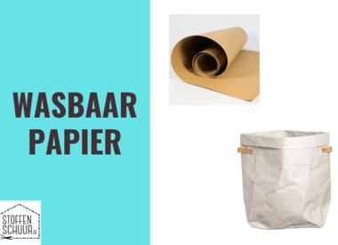 wasbaar papier