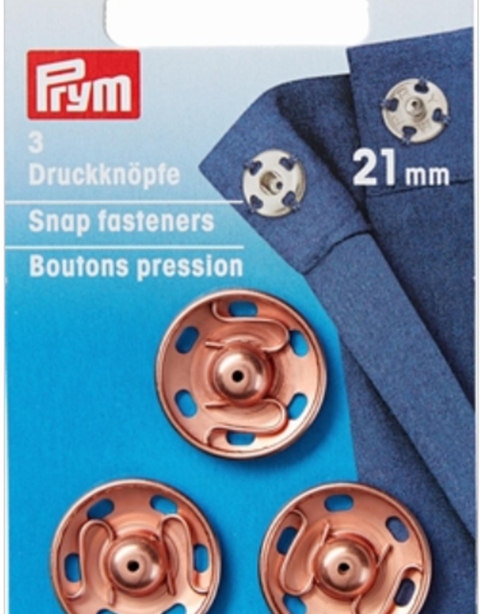 Prym Prym - aannaaidrukkers roségold 21mm - 341 801