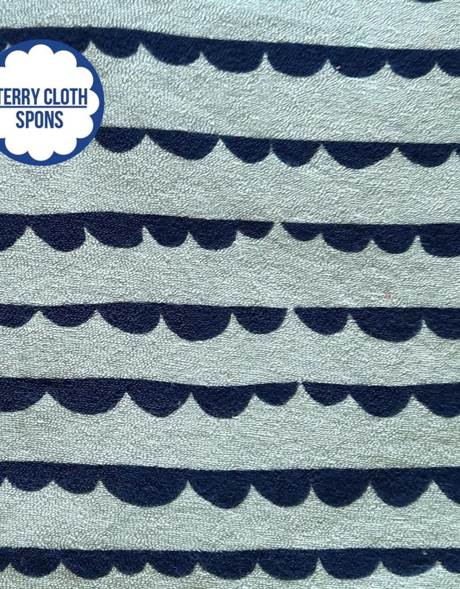 About Blue Fabrics Sea You - DOTTY STRIPES (Sponge/Terry Cloth)