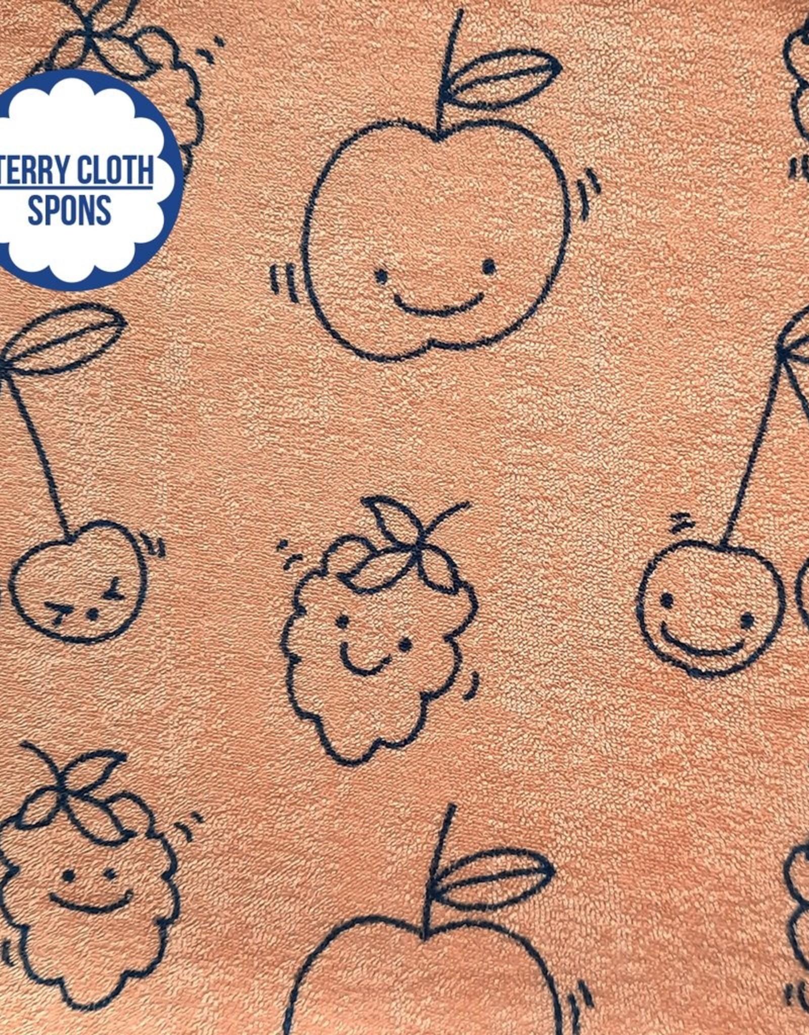 About Blue Fabrics Sea You - HAPPY FRUIT (Sponge/Terry Cloth)