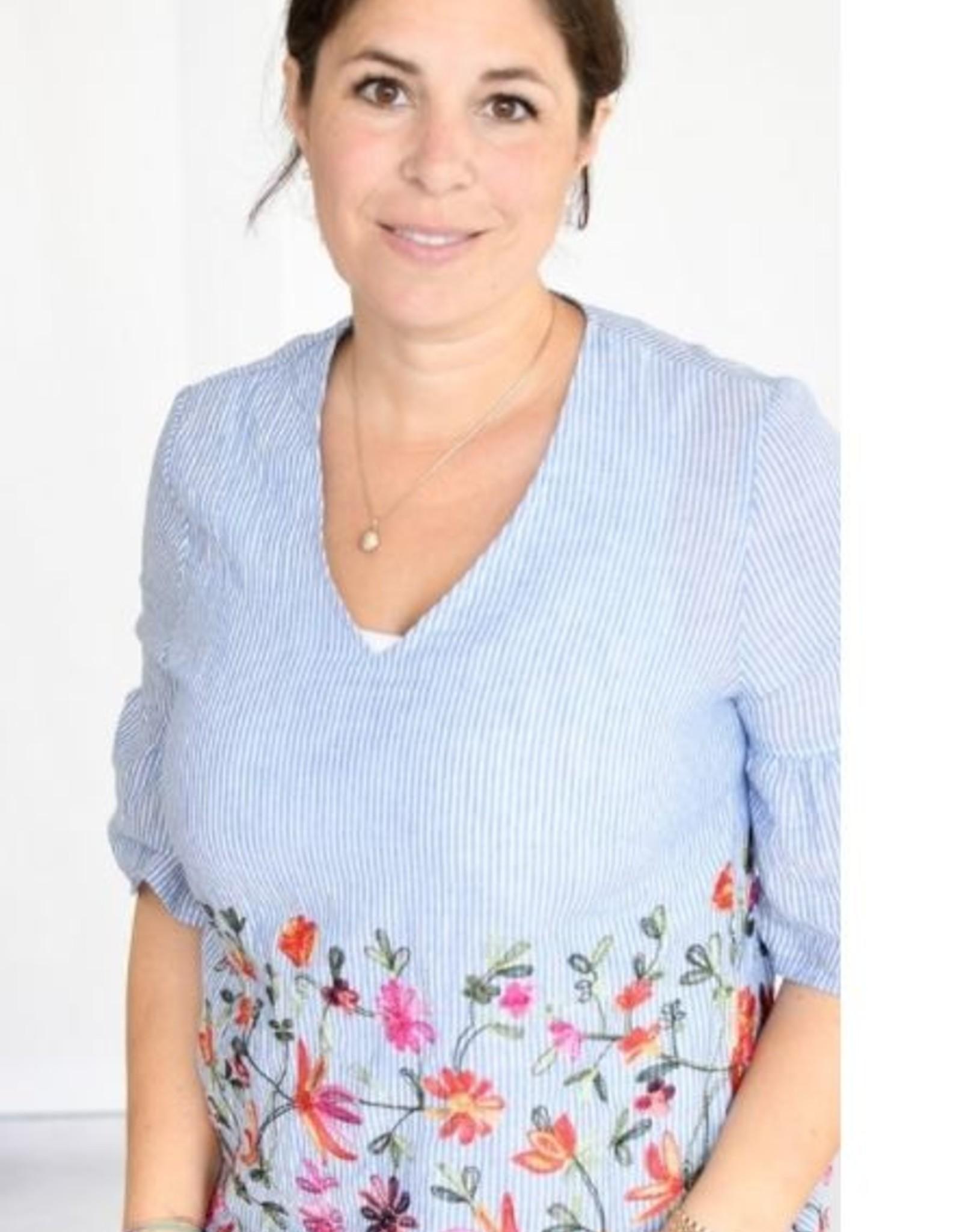 Volant-blouse vrouwen No 35