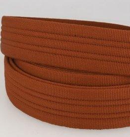Tassenband doorstikt 38mm roest col.046
