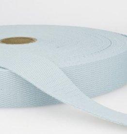 Tassenband katoen 25mm lichtblauw col.002