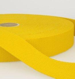 Tassenband katoen 25mm geel col.052