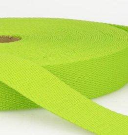 Tassenband katoen 25mm lime col.016