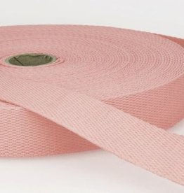 Tassenband katoen 25mm rose col.074