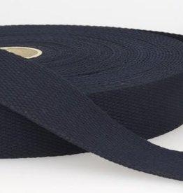 Tassenband katoen 25mm marine col.023