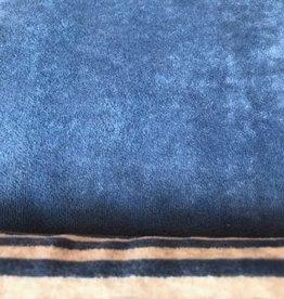 Nicky Velours Uni blauw