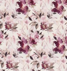Jersey met pastel bloemen