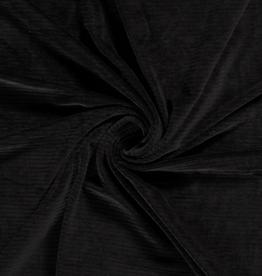 Ribfluweel stretch grof geribd zwart