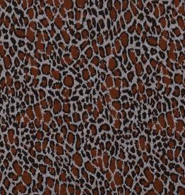 Gebreide jacquard luipaardprint vlekjes roest