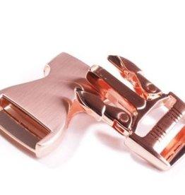 Klikgesp metallic koper 25mm