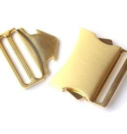 Klikgesp metallic goud 40mm